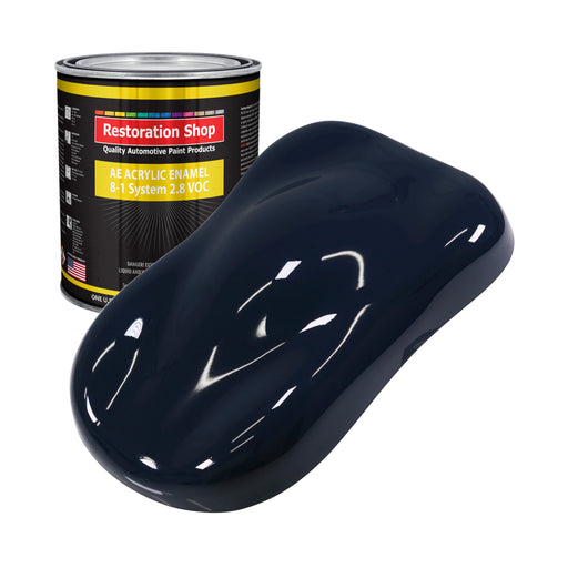 Midnight Blue Acrylic Enamel Auto Paint - Gallon Paint Color Only - Professional Single Stage High Gloss Automotive, Car, Truck, Equipment Coating, 2.8 VOC