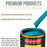 Petty Blue Acrylic Enamel Auto Paint - Complete Quart Paint Kit - Professional Single Stage High Gloss Automotive, Car, Truck, Equipment Coating, 8:1 Mix Ratio 2.8 VOC