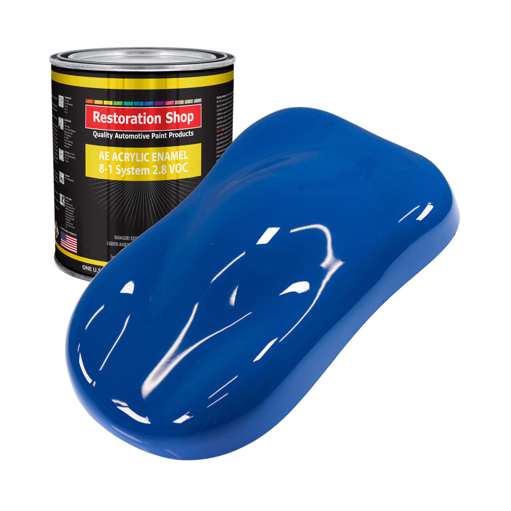 Reflex Blue Acrylic Enamel Auto Paint - Gallon Paint Color Only - Professional Single Stage High Gloss Automotive, Car, Truck, Equipment Coating, 2.8 VOC