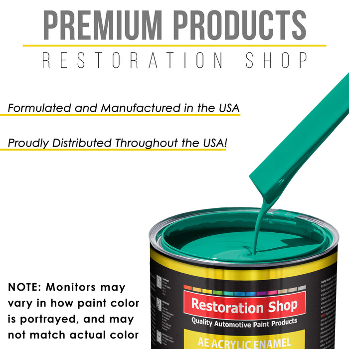 Tropical Turquoise Acrylic Enamel Auto Paint - Gallon Paint Color Only - Professional Single Stage High Gloss Automotive, Car, Truck, Equipment Coating, 2.8 VOC