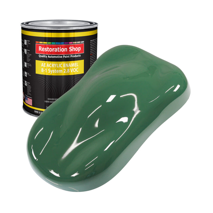 Transport Green Acrylic Enamel Auto Paint - Gallon Paint Color Only - Professional Single Stage High Gloss Automotive, Car, Truck, Equipment Coating, 2.8 VOC