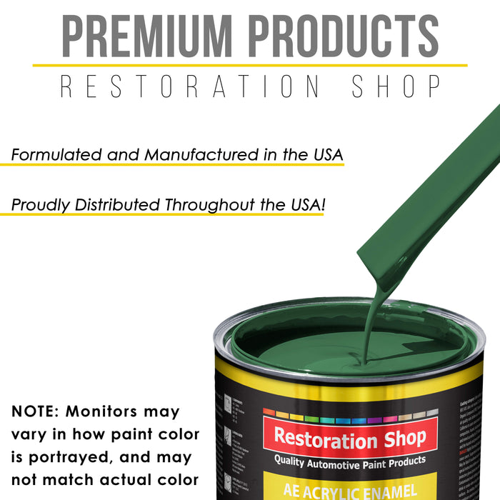 Transport Green Acrylic Enamel Auto Paint - Complete Quart Paint Kit - Professional Single Stage High Gloss Automotive, Car, Truck, Equipment Coating, 8:1 Mix Ratio 2.8 VOC