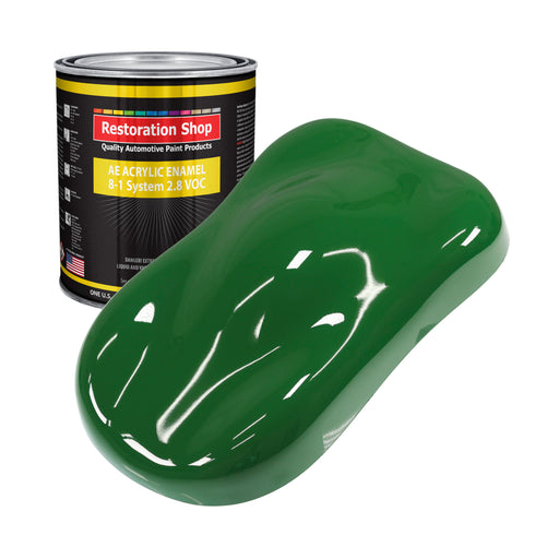 Emerald Green Acrylic Enamel Auto Paint - Gallon Paint Color Only - Professional Single Stage High Gloss Automotive, Car, Truck, Equipment Coating, 2.8 VOC