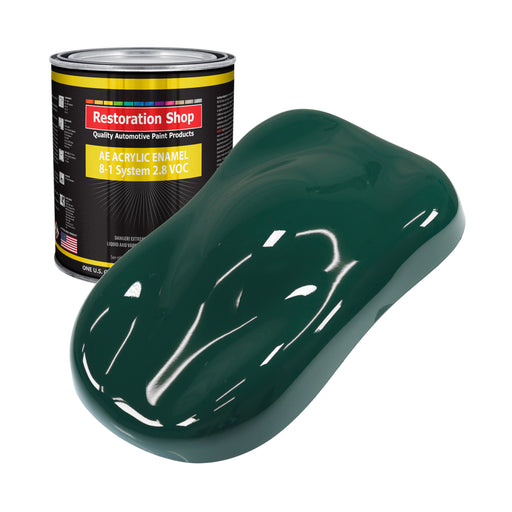 Woodland Green Acrylic Enamel Auto Paint - Gallon Paint Color Only - Professional Single Stage High Gloss Automotive, Car, Truck, Equipment Coating, 2.8 VOC
