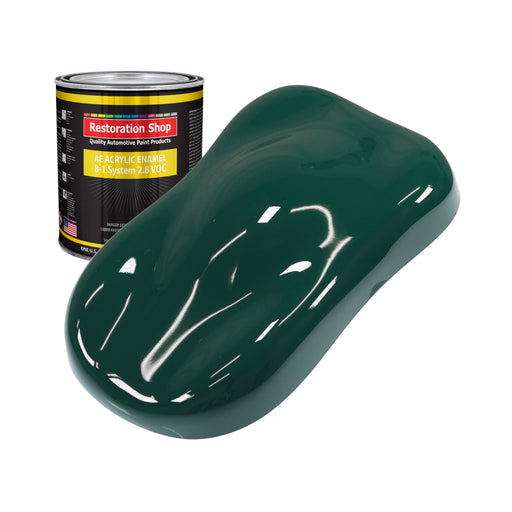 Woodland Green Acrylic Enamel Auto Paint - Quart Paint Color Only - Professional Single Stage High Gloss Automotive, Car, Truck, Equipment Coating, 2.8 VOC
