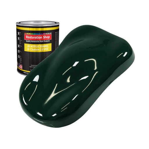British Racing Green Acrylic Enamel Auto Paint - Quart Paint Color Only - Professional Single Stage High Gloss Automotive, Car, Truck, Equipment Coating, 2.8 VOC
