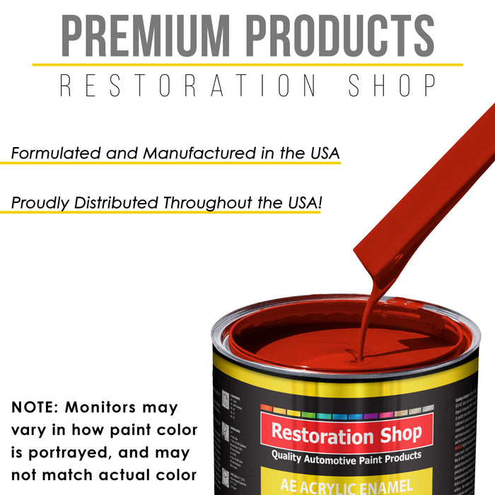 Graphic Red Acrylic Enamel Auto Paint - Quart Paint Color Only - Professional Single Stage High Gloss Automotive, Car, Truck, Equipment Coating, 2.8 VOC