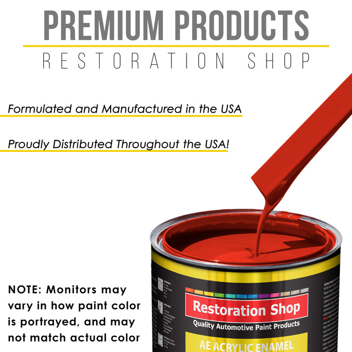 Swift Red Acrylic Enamel Auto Paint - Complete Gallon Paint Kit - Professional Single Stage High Gloss Automotive, Car Truck, Equipment Coating, 8:1 Mix Ratio 2.8 VOC
