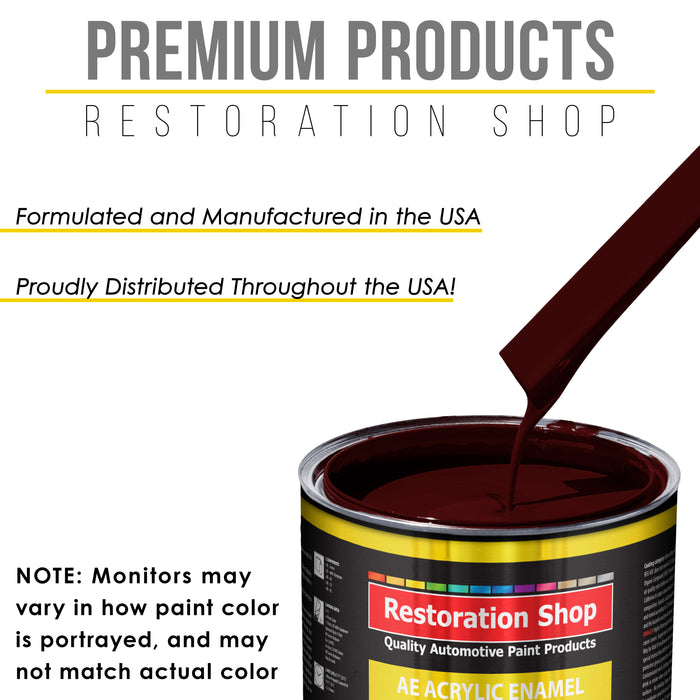 Burgundy Acrylic Enamel Auto Paint - Gallon Paint Color Only - Professional Single Stage High Gloss Automotive, Car, Truck, Equipment Coating, 2.8 VOC