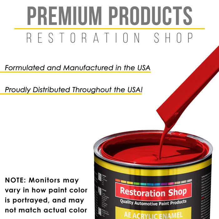 Rally Red Acrylic Enamel Auto Paint - Complete Quart Paint Kit - Professional Single Stage High Gloss Automotive, Car, Truck, Equipment Coating, 8:1 Mix Ratio 2.8 VOC