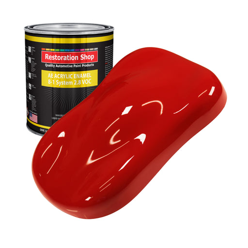 Pro Street Red Acrylic Enamel Auto Paint - Gallon Paint Color Only - Professional Single Stage High Gloss Automotive, Car, Truck, Equipment Coating, 2.8 VOC