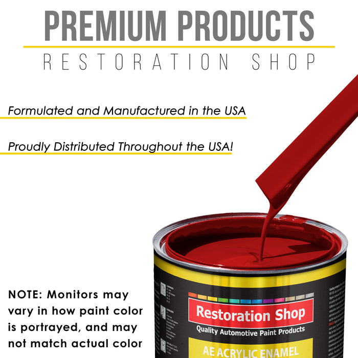 Quarter Mile Red Acrylic Enamel Auto Paint - Quart Paint Color Only - Professional Single Stage High Gloss Automotive, Car, Truck, Equipment Coating, 2.8 VOC