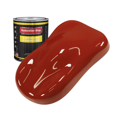 Scarlet Red Acrylic Enamel Auto Paint - Quart Paint Color Only - Professional Single Stage High Gloss Automotive, Car, Truck, Equipment Coating, 2.8 VOC