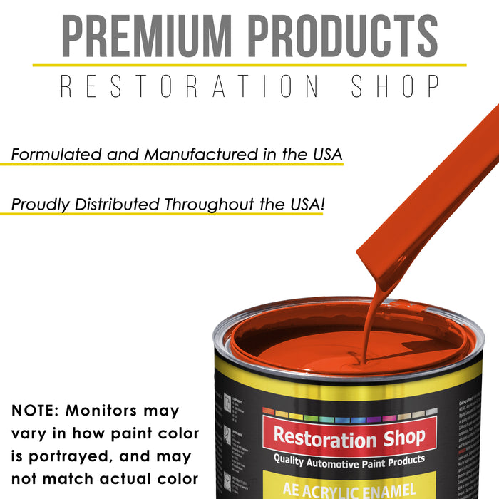 Speed Orange Acrylic Enamel Auto Paint - Complete Quart Paint Kit - Professional Single Stage High Gloss Automotive, Car, Truck, Equipment Coating, 8:1 Mix Ratio 2.8 VOC