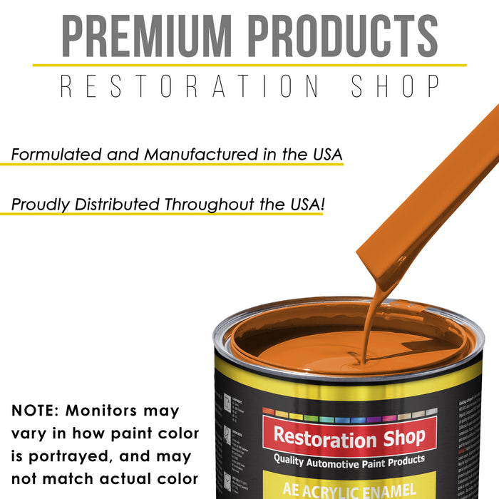 California Orange Acrylic Enamel Auto Paint - Complete Quart Paint Kit - Professional Single Stage High Gloss Automotive, Car, Truck, Equipment Coating, 8:1 Mix Ratio 2.8 VOC