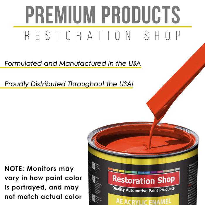 Hemi Orange Acrylic Enamel Auto Paint - Complete Gallon Paint Kit - Professional Single Stage High Gloss Automotive, Car Truck, Equipment Coating, 8:1 Mix Ratio 2.8 VOC