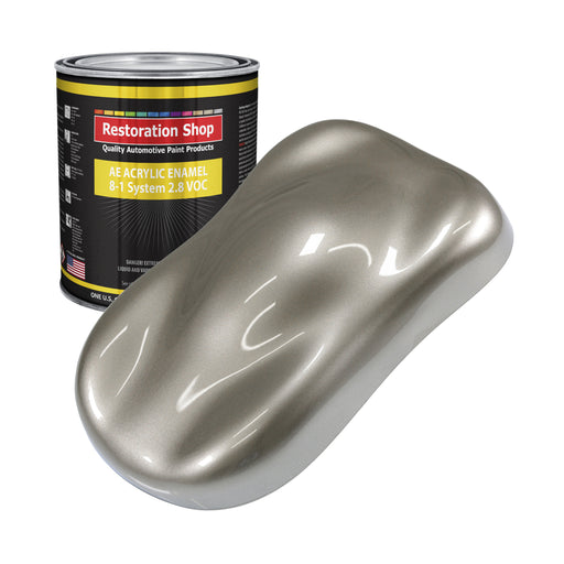 Warm Gray Metallic Acrylic Enamel Auto Paint - Gallon Paint Color Only - Professional Single Stage High Gloss Automotive, Car, Truck, Equipment Coating, 2.8 VOC