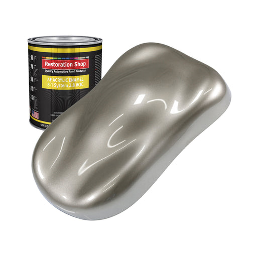 Warm Gray Metallic Acrylic Enamel Auto Paint - Quart Paint Color Only - Professional Single Stage High Gloss Automotive, Car, Truck, Equipment Coating, 2.8 VOC