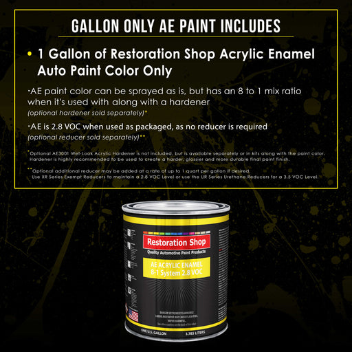 Black Metallic Acrylic Enamel Auto Paint - Gallon Paint Color Only - Professional Single Stage High Gloss Automotive, Car, Truck, Equipment Coating, 2.8 VOC