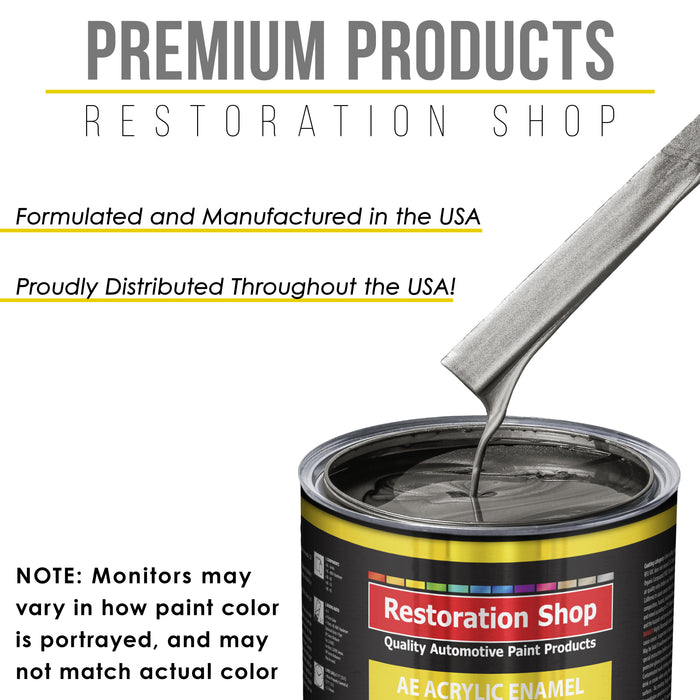 Chop Top Silver Metallic Acrylic Enamel Auto Paint - Complete Quart Paint Kit - Professional Single Stage High Gloss Automotive, Car, Truck, Equipment Coating, 8:1 Mix Ratio 2.8 VOC