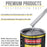Iridium Silver Metallic Acrylic Enamel Auto Paint - Complete Quart Paint Kit - Professional Single Stage High Gloss Automotive, Car, Truck, Equipment Coating, 8:1 Mix Ratio 2.8 VOC