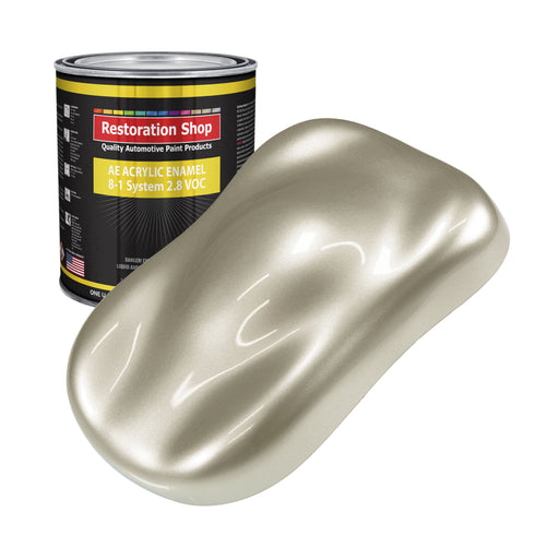 Gold Mist Metallic Acrylic Enamel Auto Paint - Gallon Paint Color Only - Professional Single Stage High Gloss Automotive, Car, Truck, Equipment Coating, 2.8 VOC