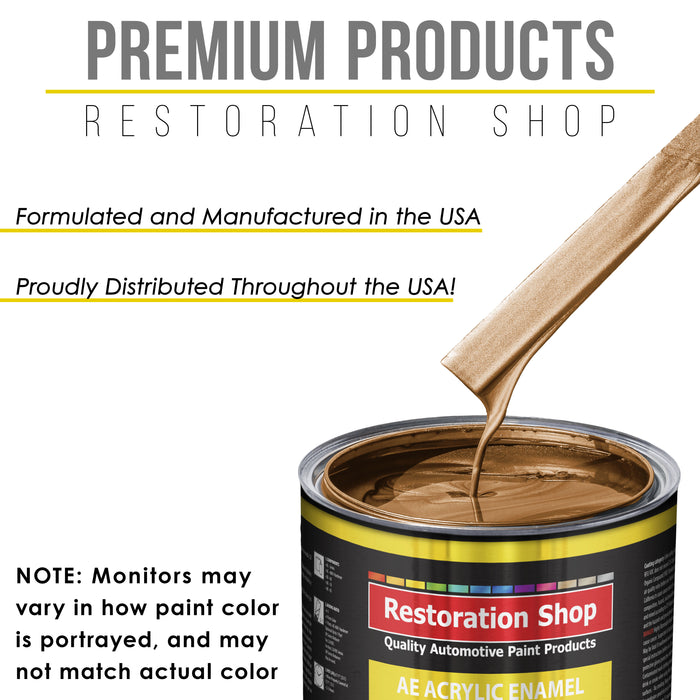 Ginger Metallic Acrylic Enamel Auto Paint - Complete Gallon Paint Kit - Professional Single Stage High Gloss Automotive, Car Truck, Equipment Coating, 8:1 Mix Ratio 2.8 VOC