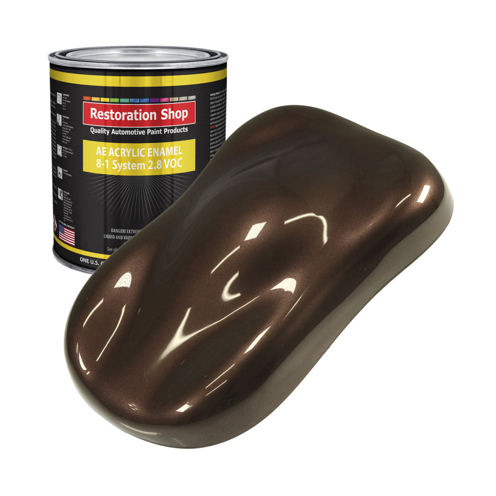 Mahogany Brown Metallic Acrylic Enamel Auto Paint - Gallon Paint Color Only - Professional Single Stage High Gloss Automotive, Car, Truck, Equipment Coating, 2.8 VOC
