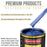 Daytona Blue Pearl Acrylic Enamel Auto Paint - Gallon Paint Color Only - Professional Single Stage High Gloss Automotive, Car, Truck, Equipment Coating, 2.8 VOC