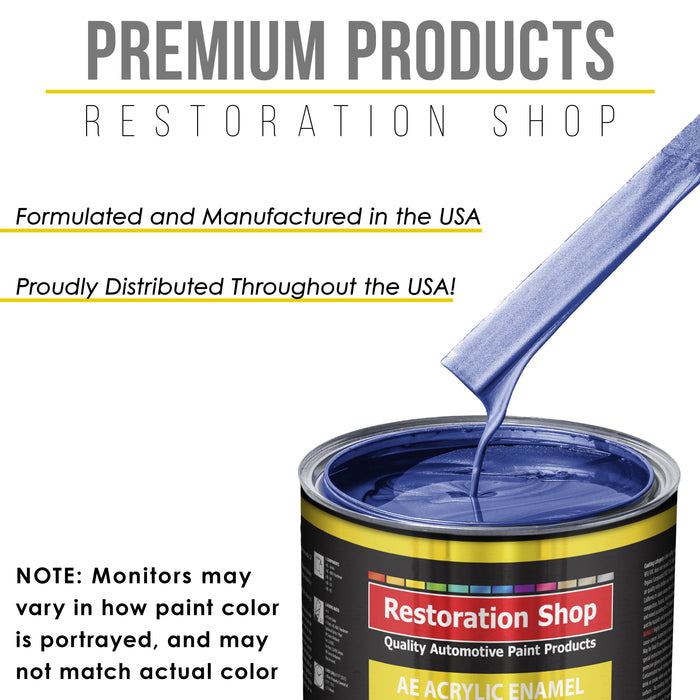 Indigo Blue Metallic Acrylic Enamel Auto Paint - Quart Paint Color Only - Professional Single Stage High Gloss Automotive, Car, Truck, Equipment Coating, 2.8 VOC