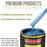 Intense Blue Metallic Acrylic Enamel Auto Paint - Complete Quart Paint Kit - Professional Single Stage High Gloss Automotive, Car, Truck, Equipment Coating, 8:1 Mix Ratio 2.8 VOC