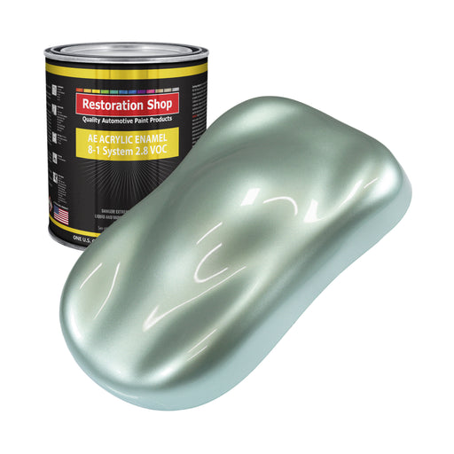 Frost Green Metallic Acrylic Enamel Auto Paint - Gallon Paint Color Only - Professional Single Stage High Gloss Automotive, Car, Truck, Equipment Coating, 2.8 VOC