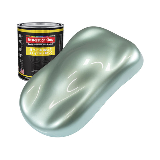Frost Green Metallic Acrylic Enamel Auto Paint - Quart Paint Color Only - Professional Single Stage High Gloss Automotive, Car, Truck, Equipment Coating, 2.8 VOC