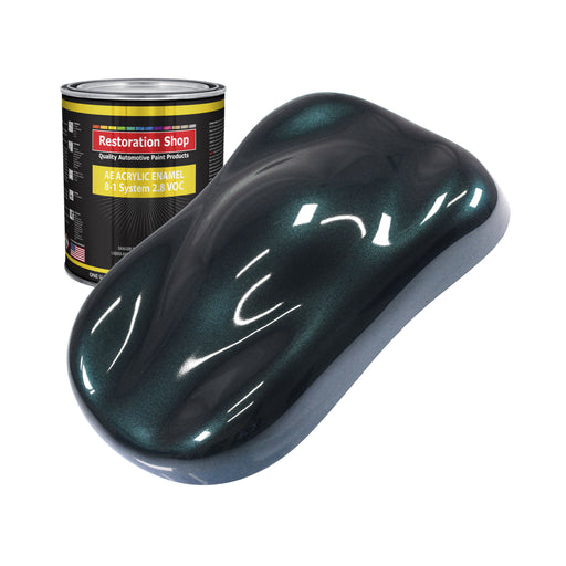 Dark Turquoise Metallic Acrylic Enamel Auto Paint - Quart Paint Color Only - Professional Single Stage High Gloss Automotive, Car, Truck, Equipment Coating, 2.8 VOC