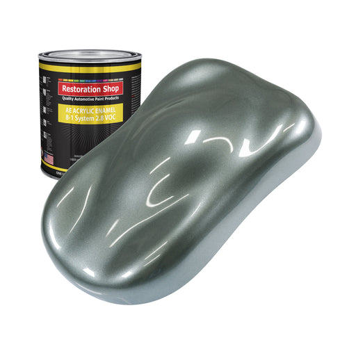 Steel Gray Metallic Acrylic Enamel Auto Paint - Quart Paint Color Only - Professional Single Stage High Gloss Automotive, Car, Truck, Equipment Coating, 2.8 VOC