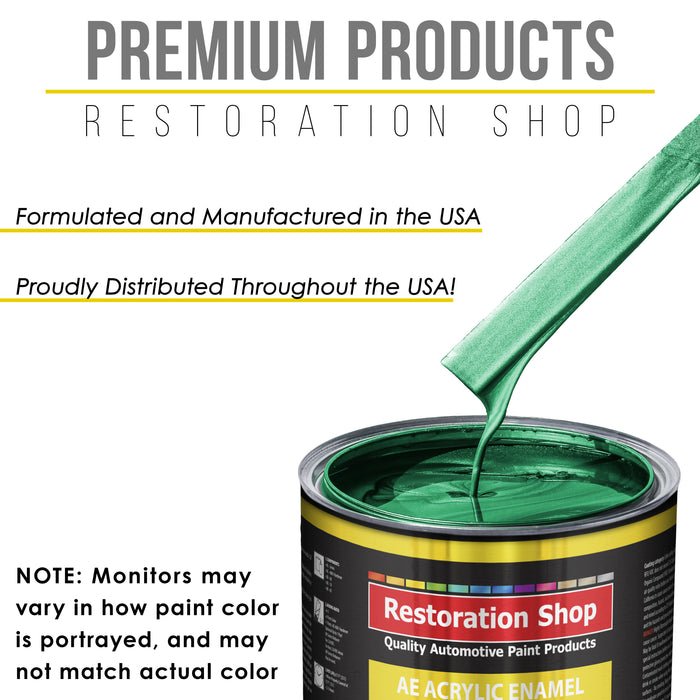 Rally Green Metallic Acrylic Enamel Auto Paint - Complete Gallon Paint Kit - Professional Single Stage High Gloss Automotive, Car Truck, Equipment Coating, 8:1 Mix Ratio 2.8 VOC