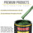 British Racing Green Metallic Acrylic Enamel Auto Paint - Gallon Paint Color Only - Professional Single Stage High Gloss Automotive, Car, Truck, Equipment Coating, 2.8 VOC