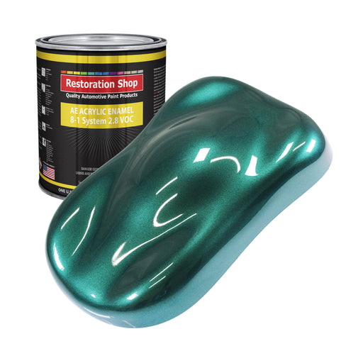 Dark Teal Metallic Acrylic Enamel Auto Paint - Gallon Paint Color Only - Professional Single Stage High Gloss Automotive, Car, Truck, Equipment Coating, 2.8 VOC