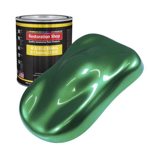 Emerald Green Metallic Acrylic Enamel Auto Paint - Gallon Paint Color Only - Professional Single Stage High Gloss Automotive, Car, Truck, Equipment Coating, 2.8 VOC