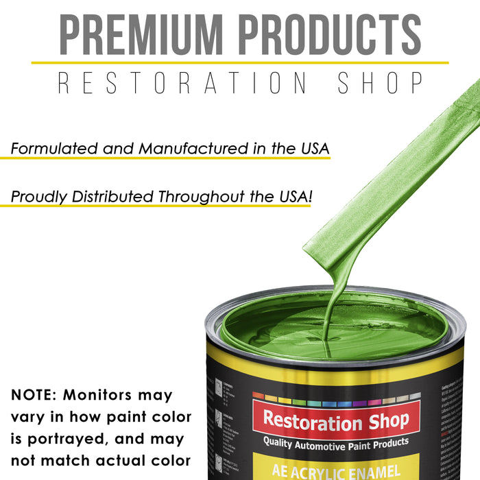 Firemist Lime Acrylic Enamel Auto Paint - Gallon Paint Color Only - Professional Single Stage High Gloss Automotive, Car, Truck, Equipment Coating, 2.8 VOC