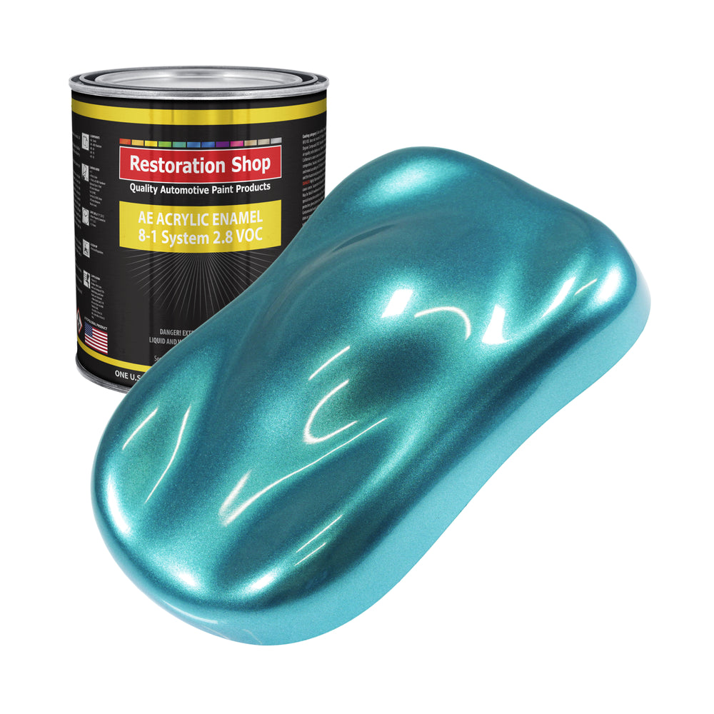 Aquamarine Firemist Acrylic Enamel Auto Paint - Gallon Paint Color Only - Professional Single Stage High Gloss Automotive, Car, Truck, Equipment Coating, 2.8 VOC