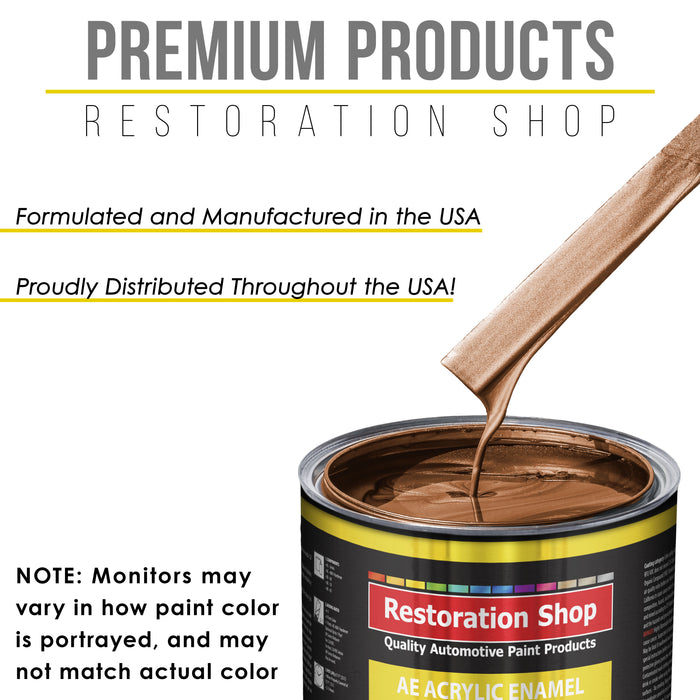 Firemist Copper Acrylic Enamel Auto Paint - Complete Gallon Paint Kit - Professional Single Stage High Gloss Automotive, Car Truck, Equipment Coating, 8:1 Mix Ratio 2.8 VOC