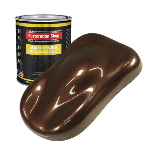 Saddle Brown Firemist Acrylic Enamel Auto Paint - Gallon Paint Color Only - Professional Single Stage High Gloss Automotive, Car, Truck, Equipment Coating, 2.8 VOC