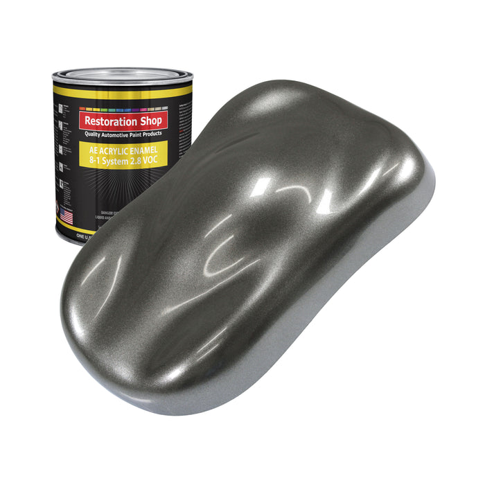Charcoal Gray Firemist Acrylic Enamel Auto Paint - Quart Paint Color Only - Professional Single Stage High Gloss Automotive, Car, Truck, Equipment Coating, 2.8 VOC