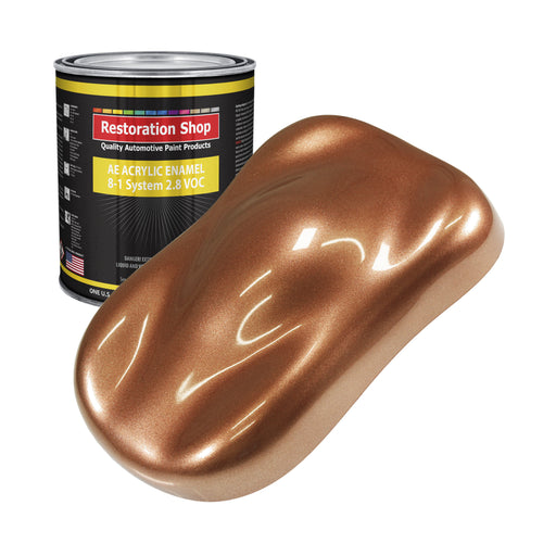 Bronze Firemist Acrylic Enamel Auto Paint - Gallon Paint Color Only - Professional Single Stage High Gloss Automotive, Car, Truck, Equipment Coating, 2.8 VOC