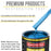 True Blue Firemist Acrylic Enamel Auto Paint - Quart Paint Color Only - Professional Single Stage High Gloss Automotive, Car, Truck, Equipment Coating, 2.8 VOC