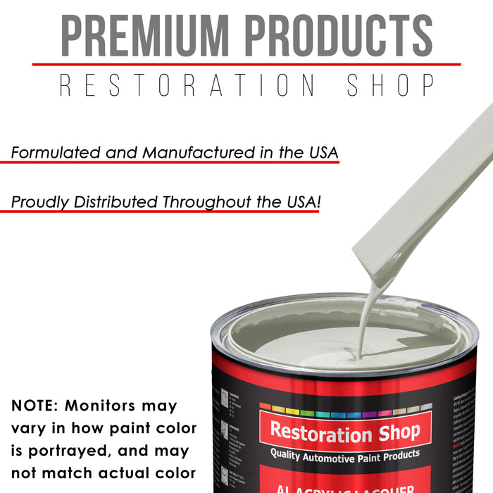 Linen White - Acrylic Lacquer Auto Paint - Complete Gallon Paint Kit with Slow Dry Thinner - Professional Gloss Automotive, Car, Truck, Guitar, Furniture Refinish Coating
