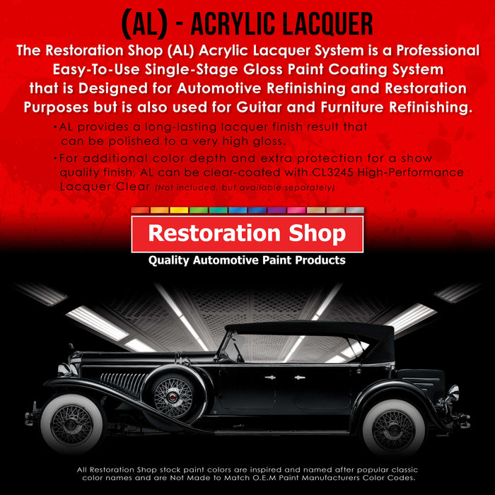 Arctic White - Acrylic Lacquer Auto Paint - Gallon Paint Color Only - Professional Gloss Automotive, Car, Truck, Guitar & Furniture Refinish Coating