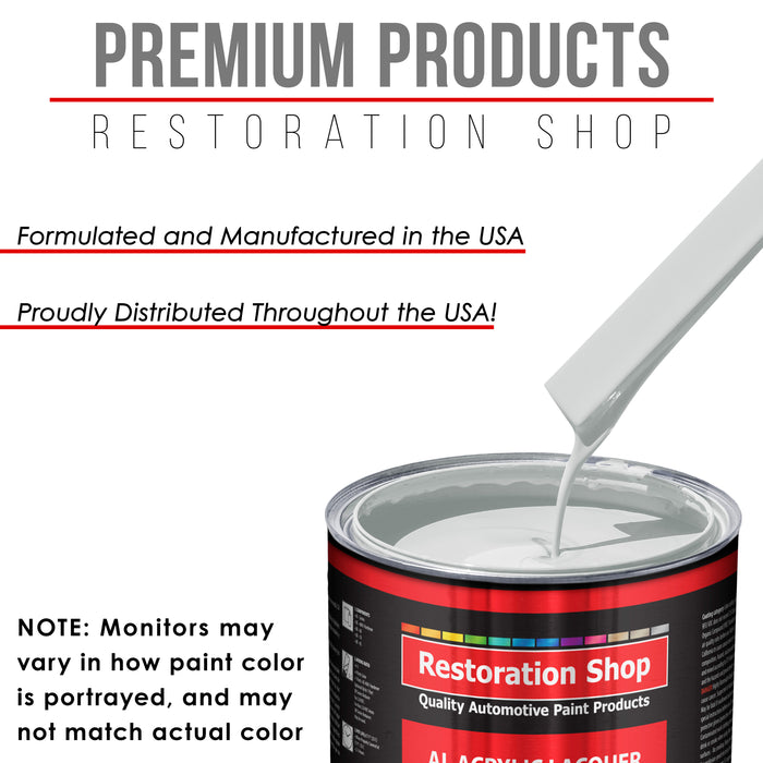 Championship White - Acrylic Lacquer Auto Paint - Gallon Paint Color Only - Professional Gloss Automotive, Car, Truck, Guitar & Furniture Refinish Coating