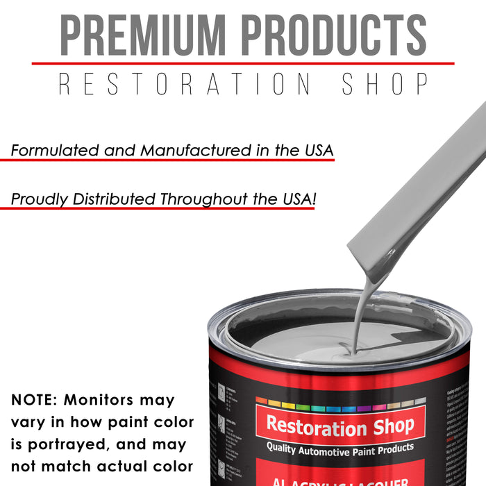 Mesa Gray - Acrylic Lacquer Auto Paint - Complete Quart Paint Kit with Medium Thinner - Professional Gloss Automotive, Car, Truck, Guitar and Furniture Refinish Coating